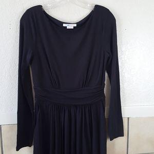 Boden Black jersey knit midi dress Size 8